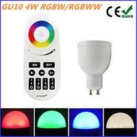 4W GU10 RGBW RGBWW Milight LED Bulb AC85 265V Dimmable Spotlight Bulb RF Remote Controller For