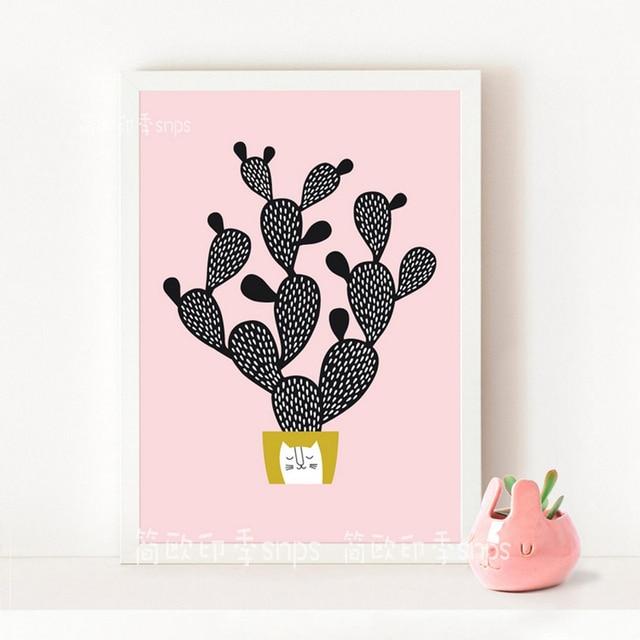 Leuke Cactus Posters En Prints Muur Canvas Schilderij Muur Foto Voor ...
