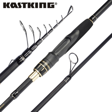 KastKing BlackHawk II Carbon Casting Spinning Fishing Rod ML/M/MH Action Portable Telescopic Fishing Rod with 4-28g Lure Weight
