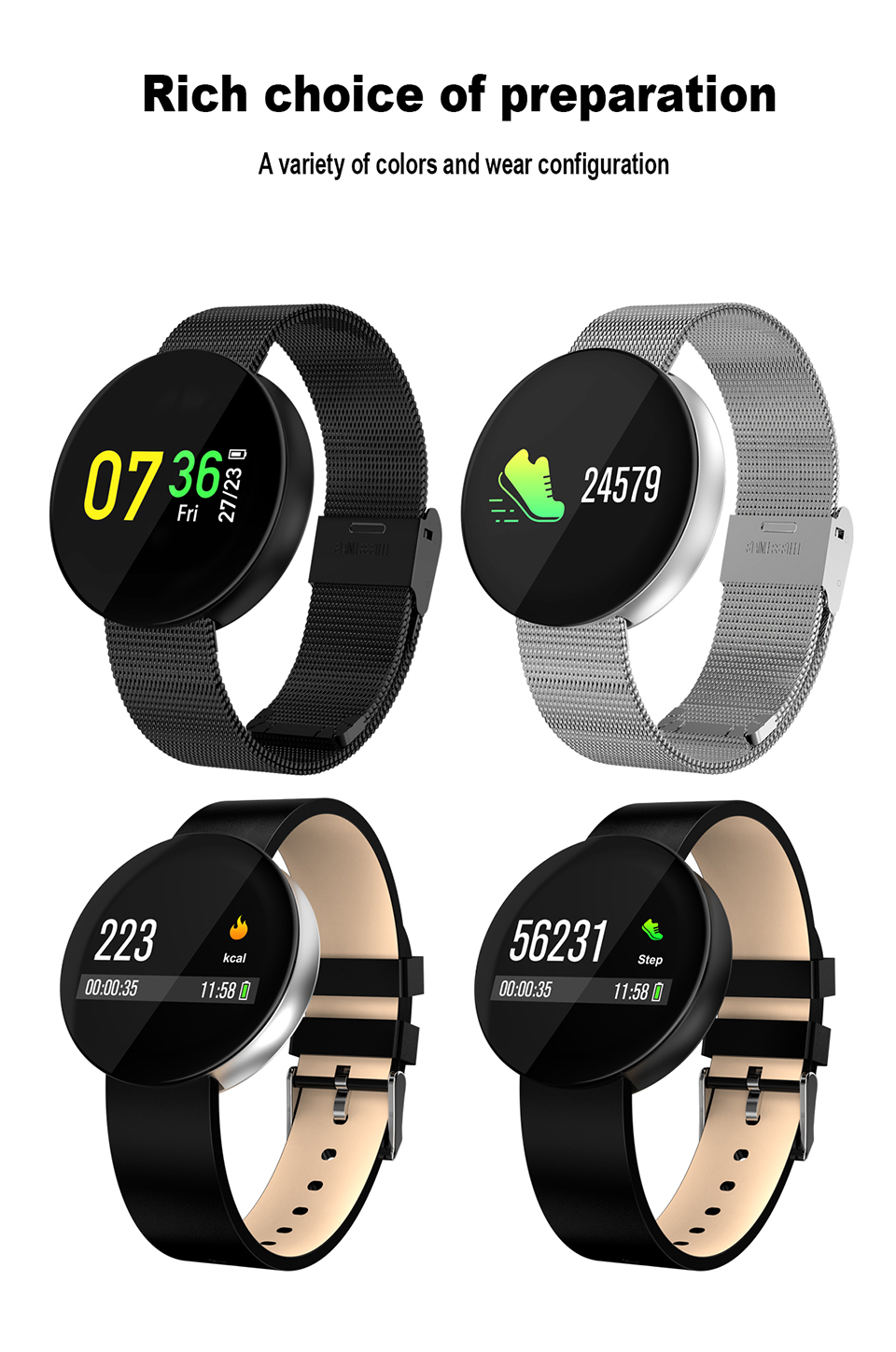 SIKEMEI Fitness Touch Screen Sport Waterproof Smartwatch