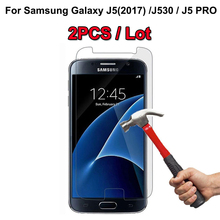 2PCS For Samsung J5 2017 Tempered Glass 9H 2.5D Premium Screen Protector Film Galaxy (2017) J530 / Pro 5.2 ^