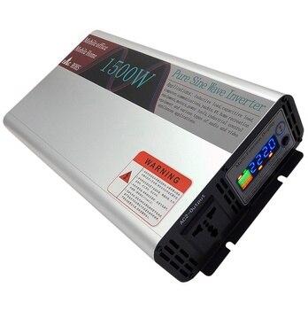 Alta calidad onda sinusoidal pura DC 12V/24V/48V a AC 110V/220V 1500W pico 3000 vatios inversor de potencia