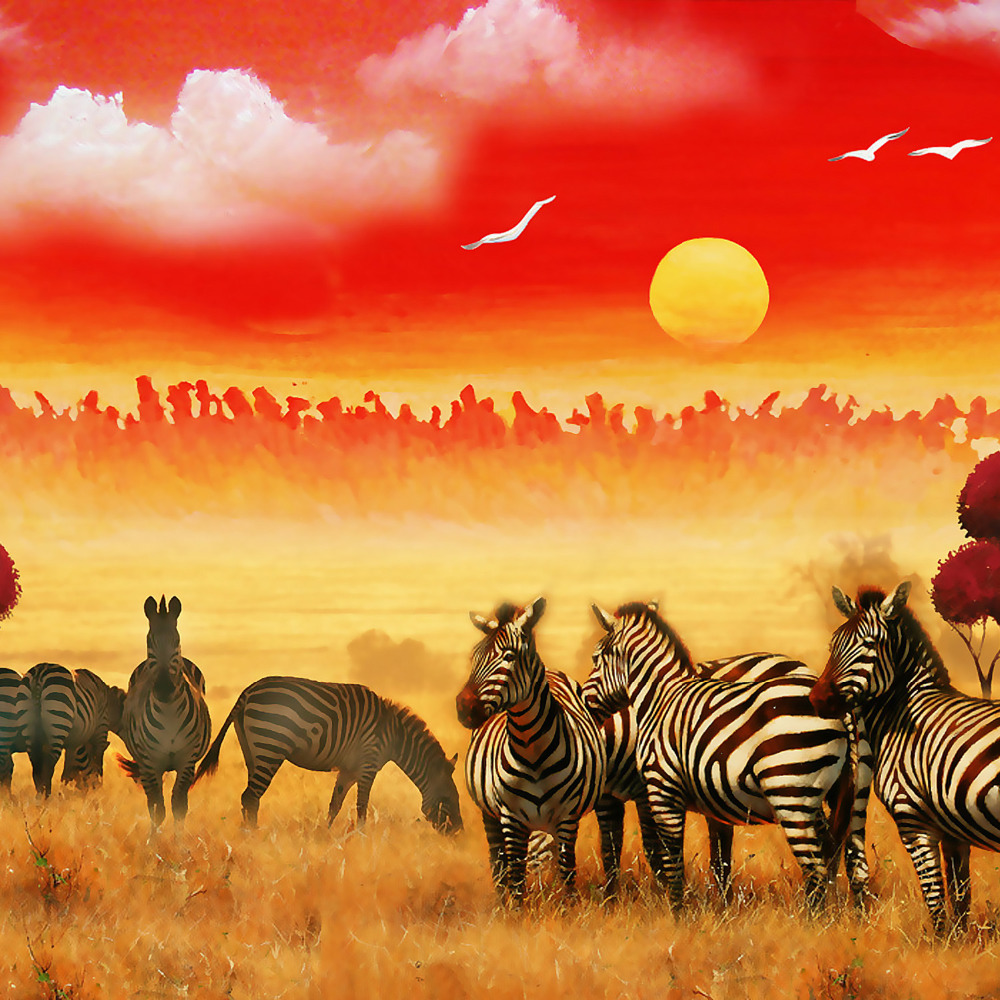 Aliexpress.com : Buy HD Zebra Group Framed Canvas Art Print Painting ...