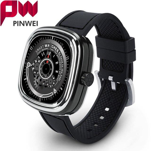PINWEI PWM2 Bluetooth Smart Watch Heart Rate Monitor Водонепроницаемый Smartwatch С Сенсорным Экраном для iphone iOS Android Телефон Женщины Смотреть