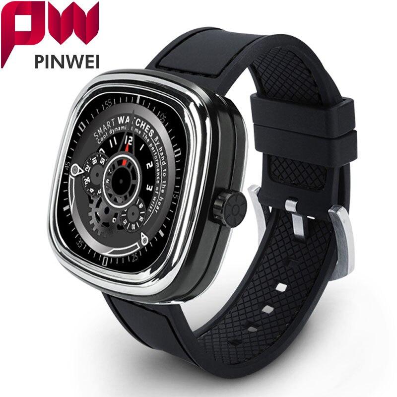 imágenes para Pinwei pwm2 bluetooth smart watch heart rate monitor impermeable pantalla táctil smartwatch para iphone ios android teléfono reloj de las mujeres