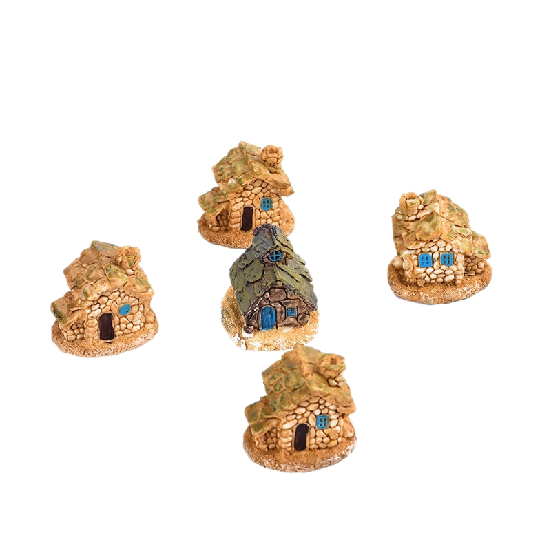 Stone House Fairy Garden Craft Mini Cabin Landscape Decoration Diy Resin Crafts