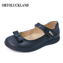 Ortoluckland Girls School Shoes Kids Leather New Princess Bo