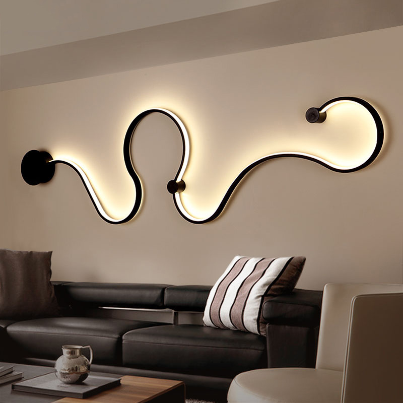 Creative Modern Led Chandelier black white for Living Room Bedroom Study Room Interior Lighting Ceiling Chandelier Lamp