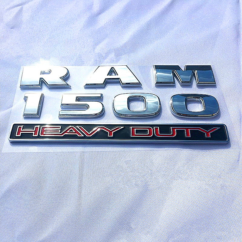3D DODGE RAM HEAD CHROME/&BLACK EMBLEM LOGO BADGE FRONT HOOD TRUNK GRILLE FENDER