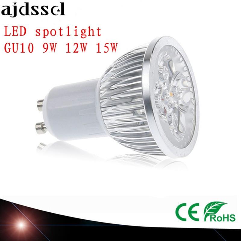 High Power spot <font><b>Lampada</b></font> <font><b>LED</b></font> spotlights GU5.3 MR16 E27 <font><b>9W</b></font> 12W 15W GU10 <font><b>led</b></font> bulbs Dimmable <font><b>Led</b></font> Lamp light MR16 AC&#038;DC12V AC110V220V