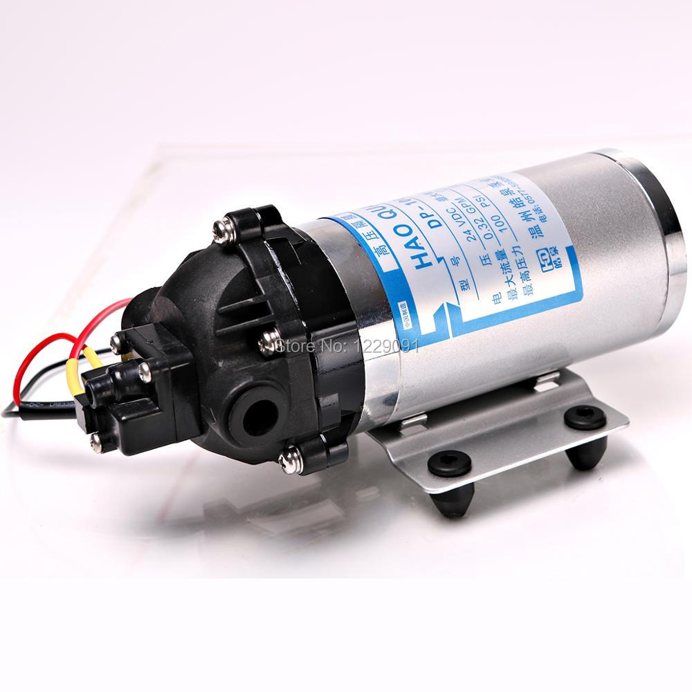 DC 10W 1.2LPM 100psi Micro High Pressure Water Pump 24V pressure Switch Diaphragm Pumps Self Suction Pump 5m