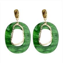 Cold wind acrylic earrings suitable for women geometric temperament alloy irregular drop earrings jewelry wholesale T25 цена в Москве и Питере