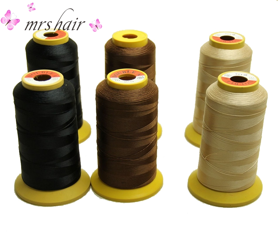 Salon Hair Weaving Thread 1Roll/lot High Strength Polyester Thread for Brazilian hair Extension/Professional Hair Extension Tool honey blonde 27 color weave bundles 3pcs lot body wave brazilian human virgin hair 7a grade remy hair weft extension trendy