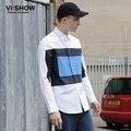 VIISHOW Качество Выбирает Случайный Рубашки Мужчины Геометрическая С Длинным рукавом slim fit camisas hombre marca Социальной Блузка Мужские Рубашки