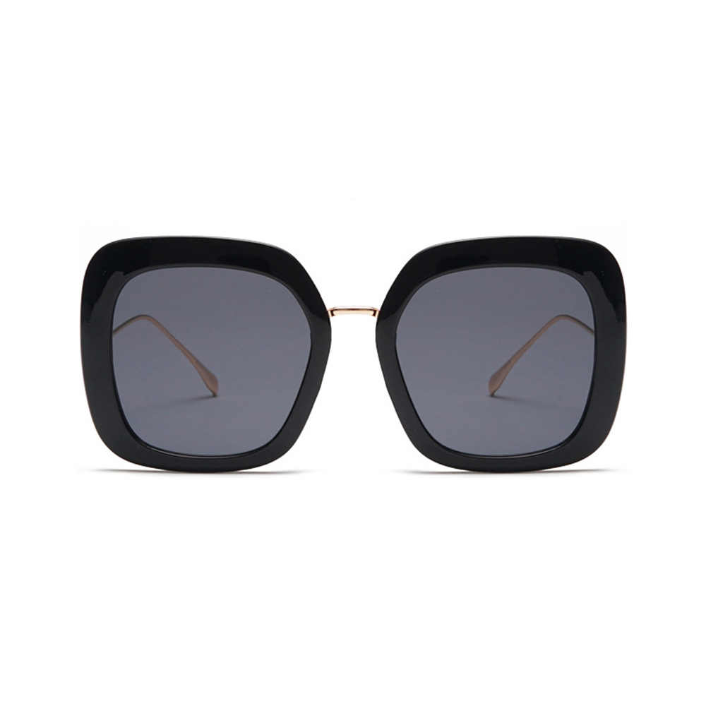 2019 ฤดูร้อนสไตล์กว้างขนาดใหญ่สแควร์บุคลิกภาพขาแว่นตากันแดดสีดำสีชมพูสุภาพสตรีแว่นตาช้อปปิ้ง