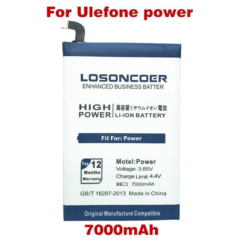 imágenes para LOSONCOER 7000 mAh Baterías de Teléfonos Móviles para Ulefone Potencia Batería Batería Envío Libre con Número de seguimiento