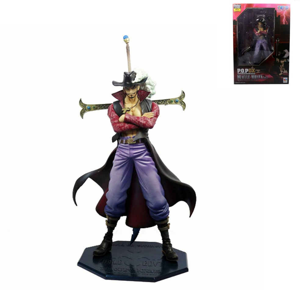 One Piece Anime DX Hawk Eye Dracule Mihawk Ver.2 10th Anniversary 26cm/10 Action Figure NIB Free Shipping free shipping anime one piece dracule mihawk pvc action figure collection toy 6 15cm