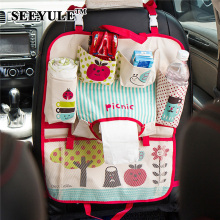 hot deal buy 1pc seeyule cute car seat back organizer cover storage bag stowing tidying container for kid tissue umbrella drink holder pad
