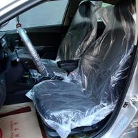 10PCS/Lot Auto Car Vehicle Disposable Plastic Transparent Chair Cover Waterproof Seat Cover Restaurant Hotel Weeding Chair Cover