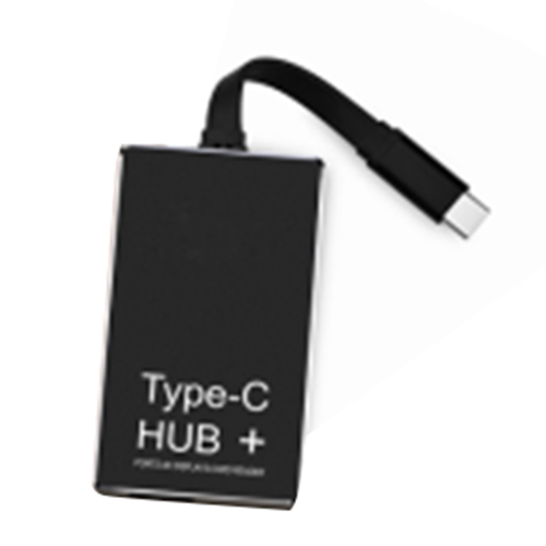 1 pcs light tone type TYPE-C HUB + charge high speed 3.0 card reader 4k hdmi aluminum al ...