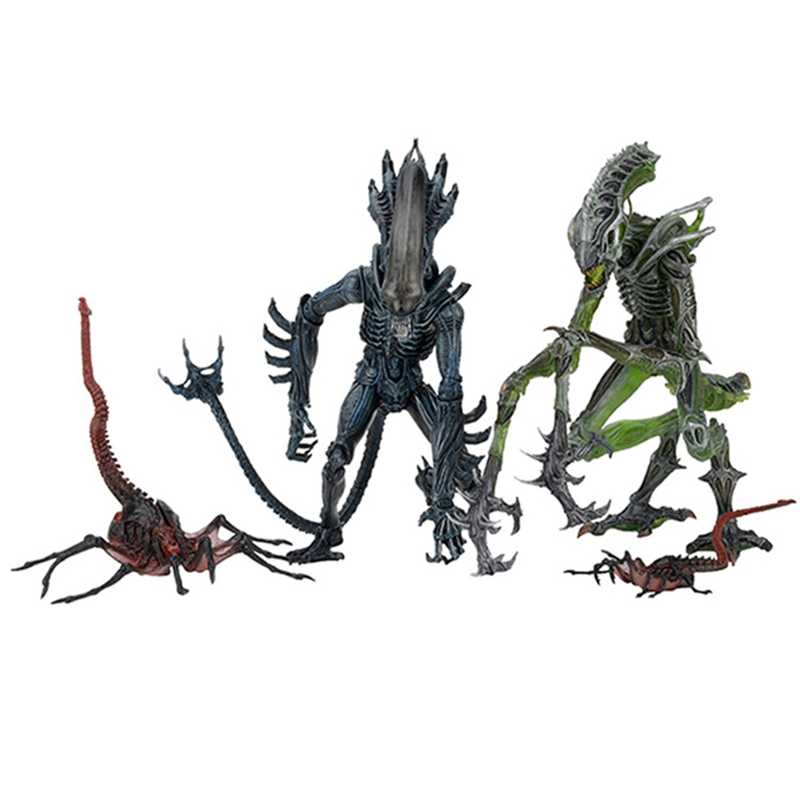 18 cm NECA Aliens VS Predators Queen Gezicht Hugger Gorilla Mantis Alien Action Figure Toy Doll Collection Model Brinquedos Gift