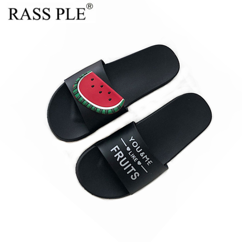 RASS PLE Fruit Home Indoor Slippers Beach Slippers Casual Flip Flop Sliders Sandals Non Slip On Shoes Women Zapatos De Mujer