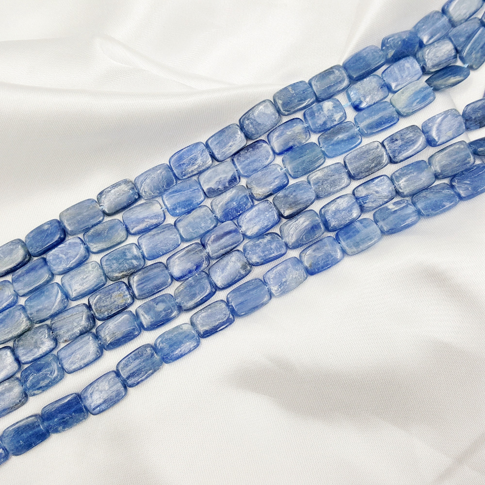 Natural Stone Blue Kyanite Cat's Eye Retangle shape 9-10mmx13-14mm beads DIY Jewelry Making Necklace or Bracelet Approx 39cm ned davis being right or making money page 9