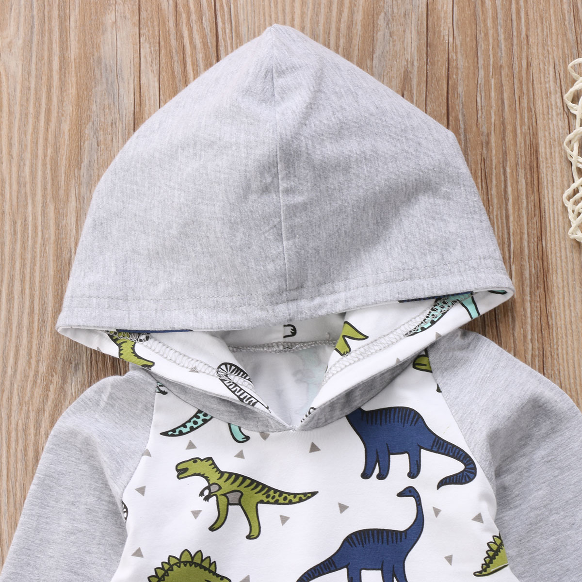 b75bdcc3423 2017 Brand New Toddler Infant Newborn Baby Girl Boy Dinosaur Hoodie Tops  Pant 2PCs Set Spring Fall Casual Outfit Cotton Clothes Tags: