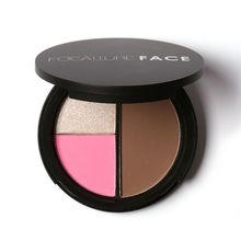 New Arrival Professional 3 Colors Shimmer Bronzers and Highlighters Powder Makeup Blusher Pro Highlighter for Palette Contour