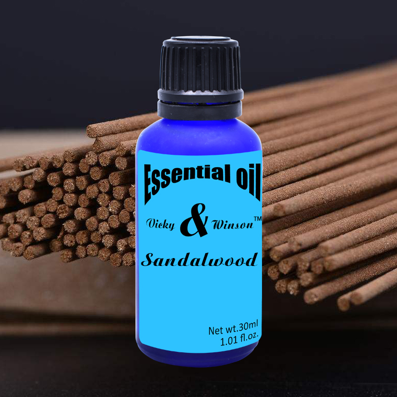 Vicky&winson Sandalwood Aromatherapy Essential Oils 30ml Purify Heart And Meditation From India 100% Natural Deodorization