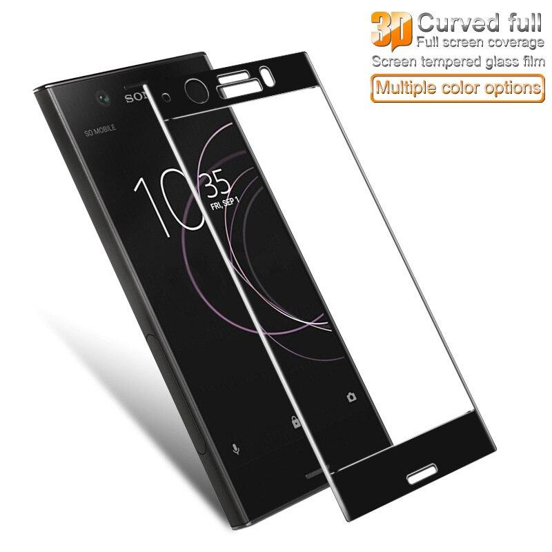 IMAK 3D Courbe Écran Protecteur Pour Sony Xperia XZ1 Compact Verre Trempé Couvercle Plein Écran De Protection Film