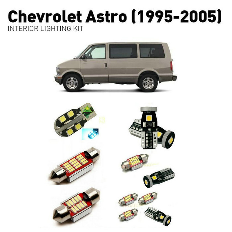 Led interior lights For Chevrolet astro 1995 2005 13pc Led Lights For Cars lighting kit automotive bulbs Canbus Error Free in Car Light Assembly from Automobiles Motorcycles
