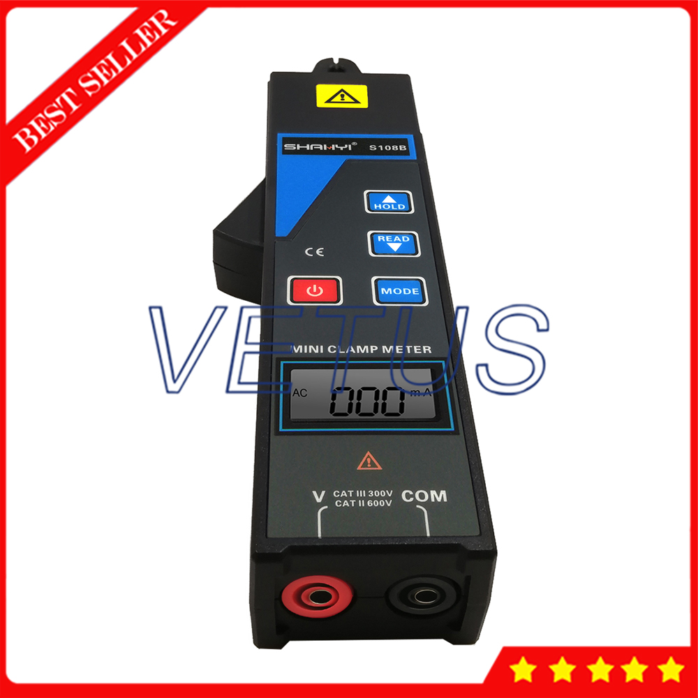 S108B Mini Clamp Current Leakage Meter With Voltage 0 to 600V Current 99 sets data save For Online test 380/220V power system - 3