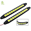 Tanbaby 2pcs/pair Silicon COB 10 led flexible strip light DRL Driving Daytime Running Lamps White , Ice blue, DC12V