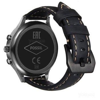 22 مللي متر سرعة الافراج حزام (استيك) ساعة جلد طبيعي withMetal مشبك معصمه حزام ل الأحفوري الجنرال 4/3 Explorist HR ، الرجال الجنرال 4 الرياضة