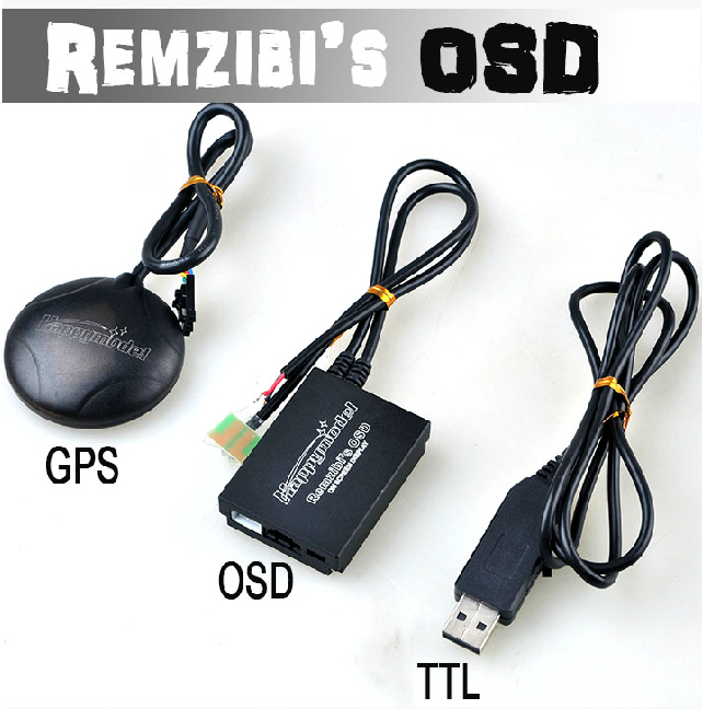 FPV Remzibi Poor Man's OSD + GPS for APM/MWC/ARKBIRD/Rabbit/Pirate + TTL Cable Module 11081 fpv s2 osd barometer version osd board read naza data phantom 2 iosd osd barometer with 8m gps module