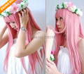 Anime Megurine Luka Cosplay Wig Costume Lolita Long Pink High Quality Synthetic Hair Wigs Party Peruca Pelucas