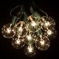 1X G50 Seqüência de Luz, 25 G50 Claro Globo Lâmpadas para Interior/Luzes Ao Ar Livre Do Pátio Do Quintal Do Vintage, 7.5 M Conectável Luzes Da Corda