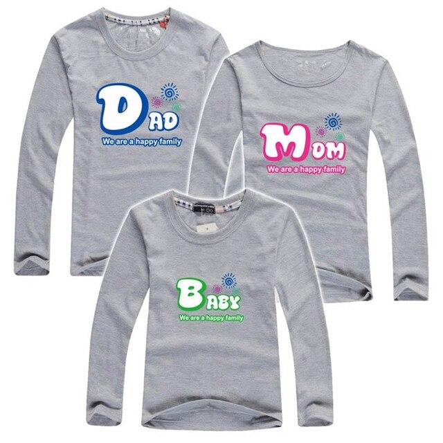 Familia camisetas a juego family clothing manga larga camisas familia mirada muchacho y madre hijo de padre e hijo trajes