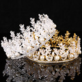 Hot Sale European Designs King Queen Crown Rhinestone Tiara Head Jewelry Quinceanera Crown Wedding Bride Tiaras Crowns Pageant