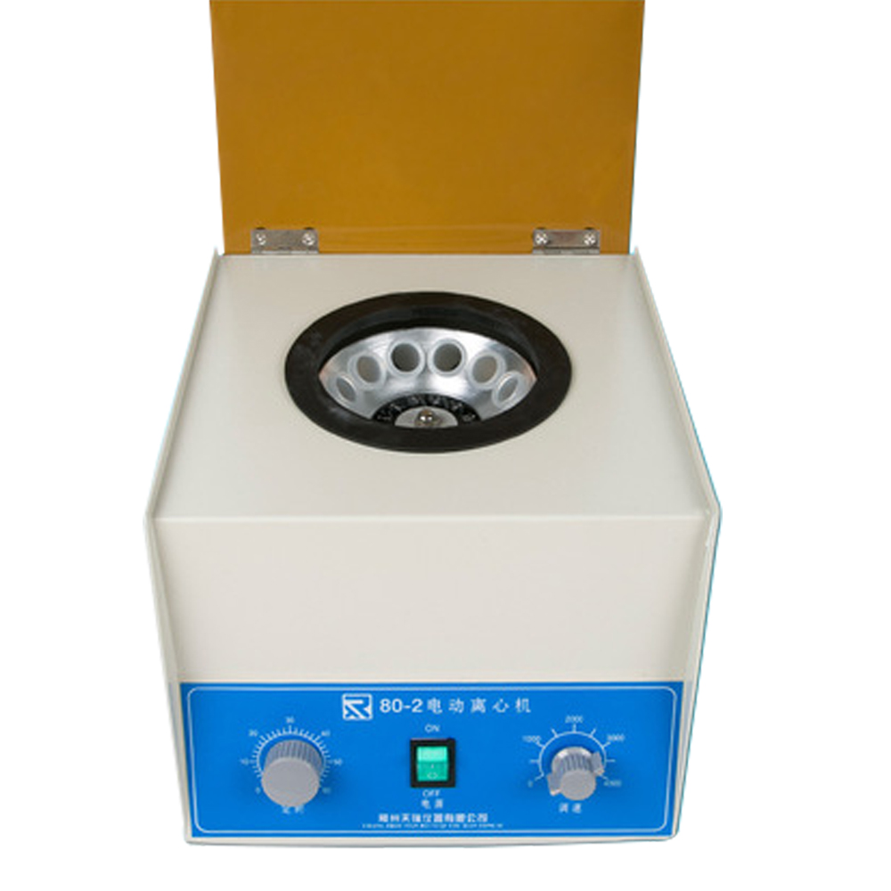80 2 Electric Lab Centrifuge Medical separation of plasma adjustable the timing function Separation bubble Laboratory