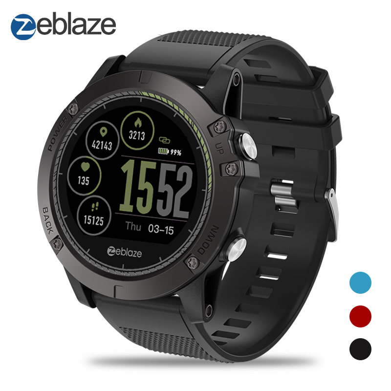 Nova Zeblaze Dispositivo Wearable VIBRAÇÃO 3 HR IP67 Smartwatch À Prova D' Água Heart Rate Monitor IPS Display Colorido Esporte Relógio Inteligente
