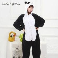 ANIMALCARTOON 2017 Взрослых Фланели Onesie Panda Животных Пижамы Капюшоном Косплей Мужская Пижама устанавливает Партия Милый Мультфильм Женщин Пижамы