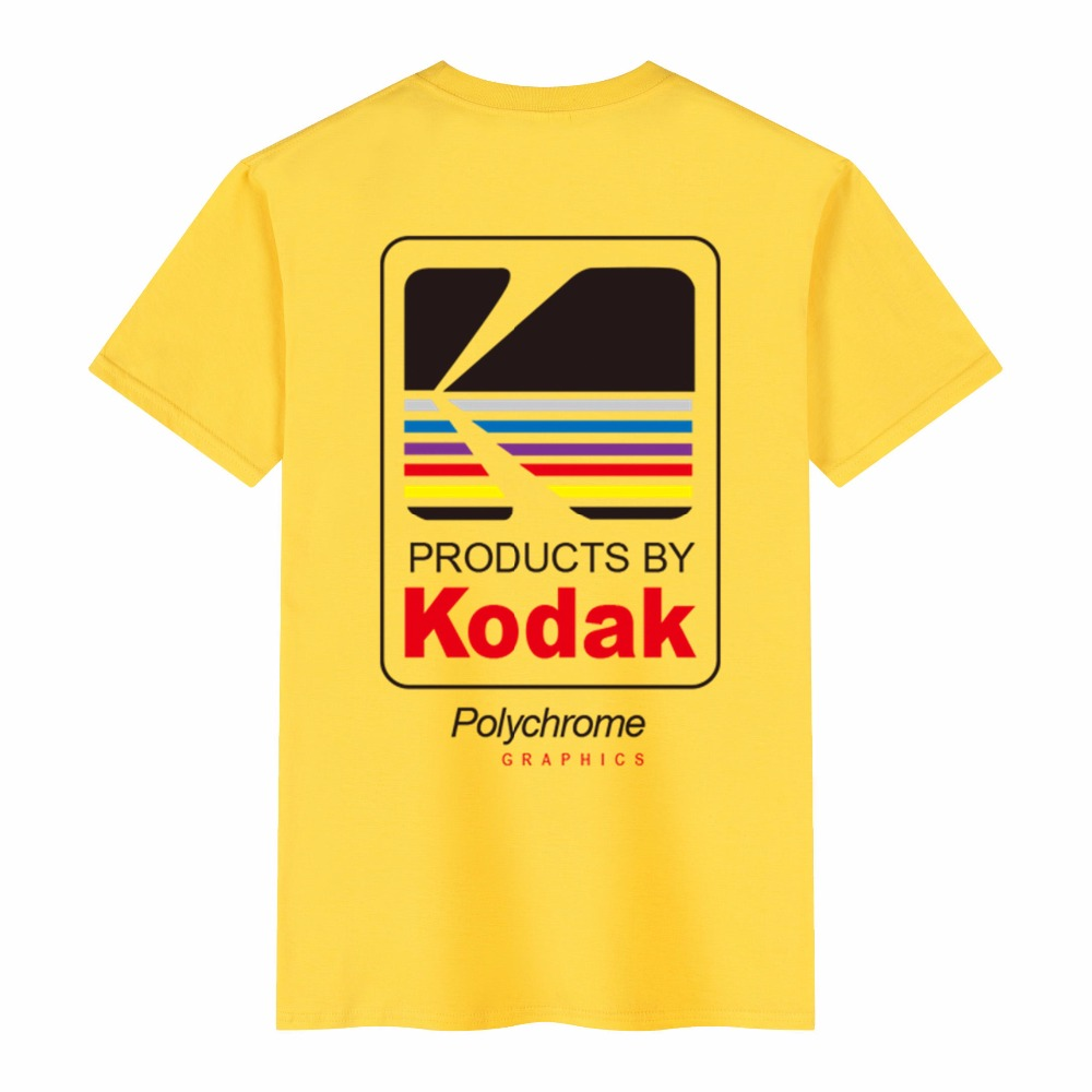 2019 Summer Men Women Tee INS Korea Retro Loose Wild Kodak Letter Short-sleeved KODAK 100% Cotton T Shirt Hip Hop Men Tops