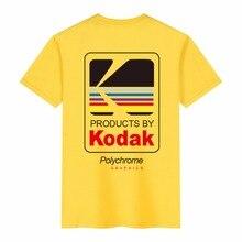 2019 Summer Men Women Tee INS Korea Retro Loose Wild Kodak Letter Short-sleeved KODAK 100% Cotton