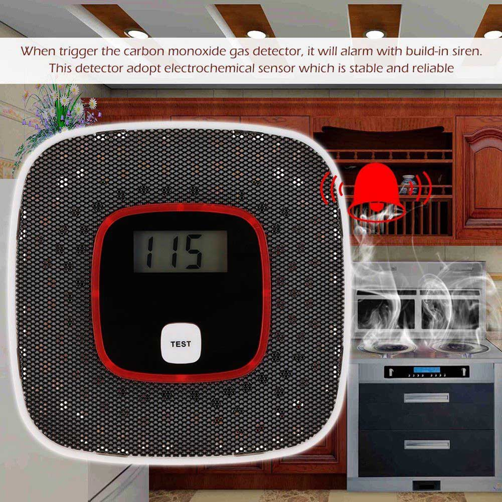 Hot Gas Sensor LCD CO Carbon Monoxide Gas Alarm Sensor Poisoning Smoke Tester Detector Monitor Tool