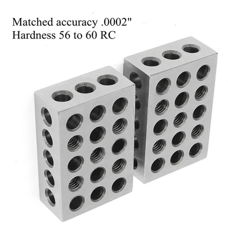 2pc Silver Hardened Steel Blocks Set Precision .0002 Accuracy Engineers Milling Tool 2.5 x 5 x 7.5 cm labview for engineers