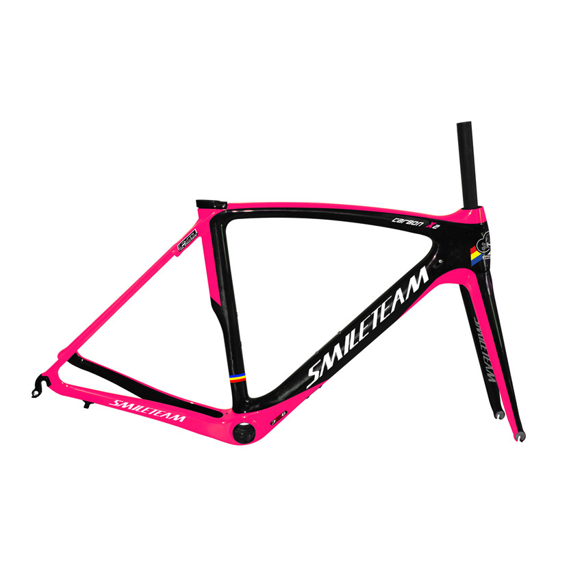 SmileTeam Chinese Factory Chearper Road Carbon Bike Frame , Full carbon Road Bicycle Frame ,Racing carbon frame with free ship