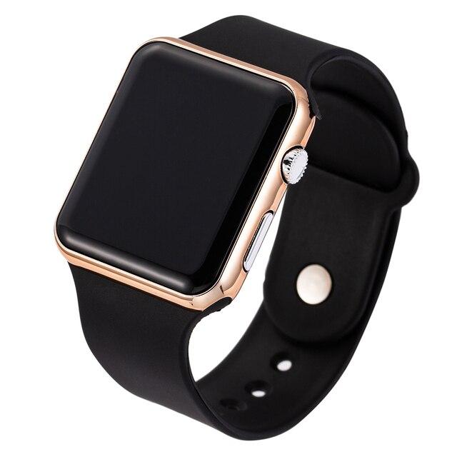 2020 New Pink Casual Wrist watches Women Watch LED Digital Sport Men Wristwatch Silicone Women Watch Reloj Mujer Erkek Kol Saati 4