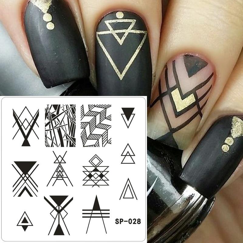 1 Unids 6 * 6 cm Moda Placas de Estampado de Uñas de acero inoxidable Estampación de Imagen Nail Art Manicura Plantillas Diy Herramientas de Sello de Uñas